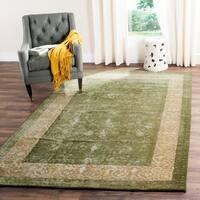 Safavieh Handmade Silk Road Green/ Ivory New Zealand Wool Rug - 7'6 x 9'6