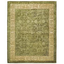 Safavieh Handmade Silk Road Majestic Green/ Ivory N. Z. Wool Rug (6' x 9')