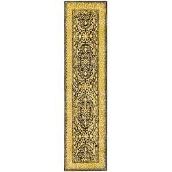 Safavieh Handmade Silk Road Black/ Ivory New Zealand Wool Rug (2'6 x 8')