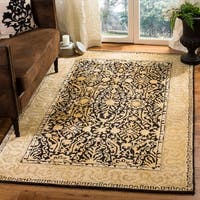 Safavieh Handmade Silk Road Black/ Ivory New Zealand Wool Rug - 4' x 6'
