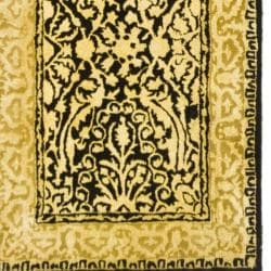 Safavieh Handmade Silk Road Black/ Ivory New Zealand Wool Rug (2'6 x 12') - Thumbnail 1