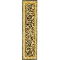 "Safavieh Handmade Silk Road Black/ Ivory New Zealand Wool Rug - 2'6"" x 12' - Thumbnail 0"
