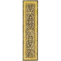 Safavieh Handmade Silk Road Black/ Ivory New Zealand Wool Rug (2'6 x 12')