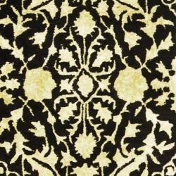 Safavieh Handmade Silk Road Black/ Ivory New Zealand Wool Rug (3' x 5') - Thumbnail 2