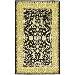 Safavieh Handmade Silk Road Black/ Ivory New Zealand Wool Rug (3' x 5')