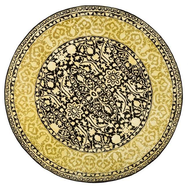 Safavieh Handmade Silk Road Black/ Ivory New Zealand Wool
