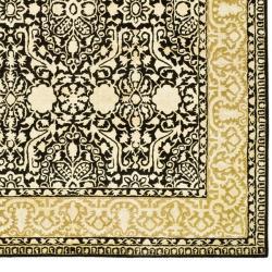 Safavieh Handmade Silk Road Black/ Ivory New Zealand Wool Rug (7'6 x 9'6) - Thumbnail 2