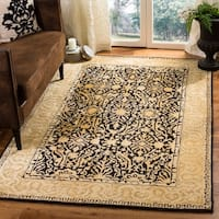 "Safavieh Handmade Silk Road Black/ Ivory New Zealand Wool Rug - 8'3"" x 11'"