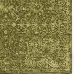Safavieh Handmade Silk Road Sage New Zealand Wool Rug (5' x 8') - Thumbnail 2