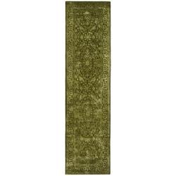 Safavieh Handmade Majestic Sage N. Z. Wool and Viscose Rug (2'6 x 12')
