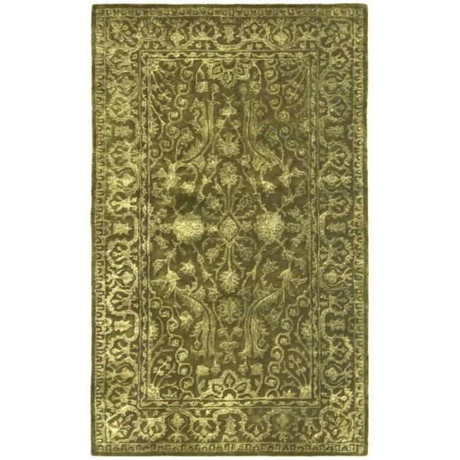 Safavieh Handmade Silk Road Sage New Zealand Wool Rug (2'6 x 4')