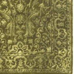 Safavieh Handmade Silk Road Sage New Zealand Wool Rug (2'6 x 4') - Thumbnail 1
