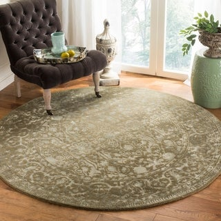 Safavieh Handmade Silk Road Sage New Zealand Wool Rug (3'6 Round)