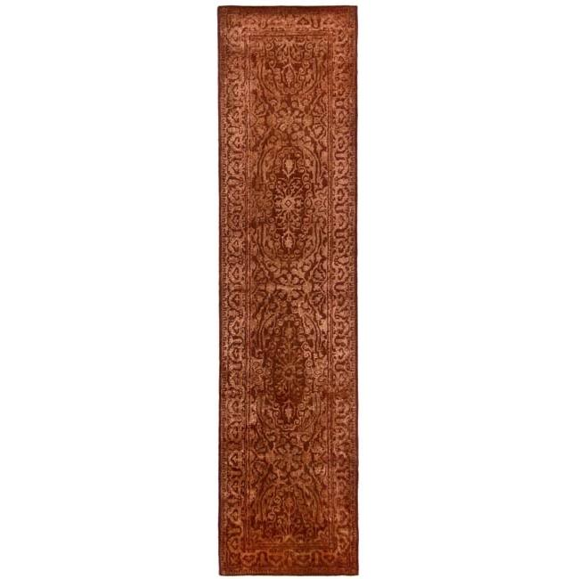 Safavieh Handmade Silk Road Rust New Zealand Wool Rug (2'6 x 12')