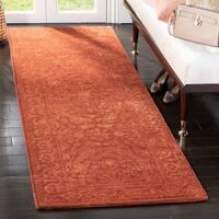 "Safavieh Handmade Silk Road Rust New Zealand Wool Rug - 2'6"" x 8'"