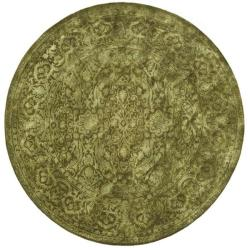 Safavieh Handmade Silk Road Sage New Zealand Wool Rug (8' Round)