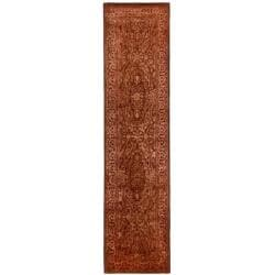 Safavieh Handmade Silk Road Rust New Zealand Wool Rug (2'6 x 10')