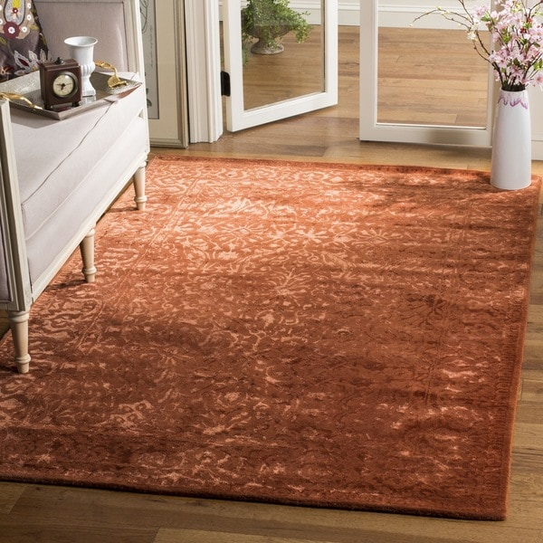 Safavieh Handmade Silk Road Rust New Zealand Wool Rug (4' x 6')