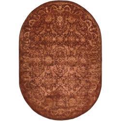 Safavieh Handmade Silk Road Majestic Rust N. Z. Wool Rug (4'6 x 6'6 Oval)