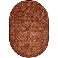 "Safavieh Handmade Silk Road Rust New Zealand Wool Rug - 4'6"" x 6'6"" oval"