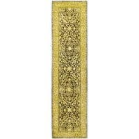 Safavieh Handmade Silk Road Brown/ Ivory New Zealand Wool Rug (2'6 x 12')