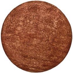 Safavieh Handmade Silk Road Rust New Zealand Wool Rug (3'6 Round)