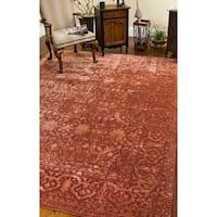 """Safavieh Handmade Silk Road Rust New Zealand Wool Rug - 3'6"""" x 3'6"""" round"""