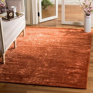Safavieh Handmade Silk Road Rust New Zealand Wool Rug (7'6 x 9'6)