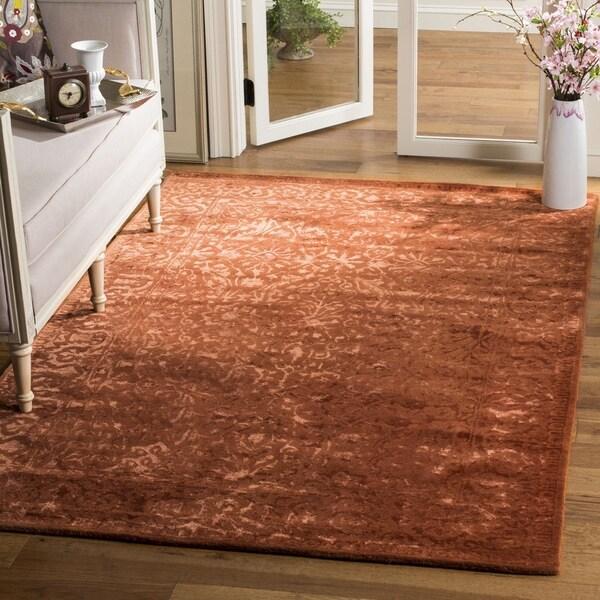 Safavieh Handmade Silk Road Rust New Zealand Wool Rug