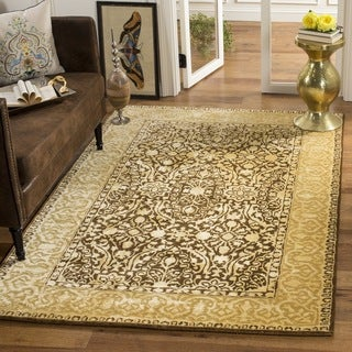 Safavieh Handmade Silk Road Brown/ Ivory New Zealand Wool Rug (3' x 5')
