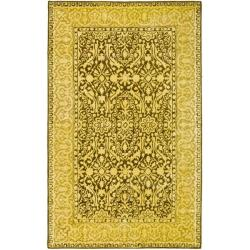 Safavieh Handmade Silk Road Brown/ Ivory New Zealand Wool Rug (4' x 6')