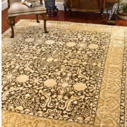 Safavieh Handmade Silk Road Majestic Brown/ Ivory N. Z. Wool Rug (5' x 8')