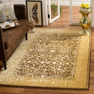 Safavieh Handmade Silk Road Brown/ Ivory New Zealand Wool Area Rug (7'6 x 9'6)
