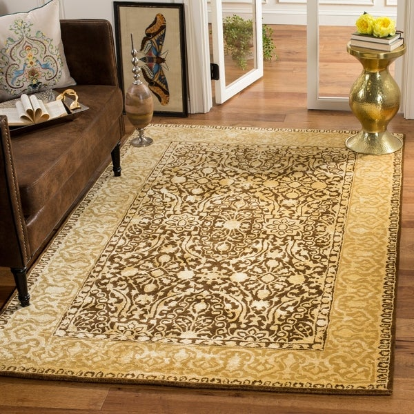 Safavieh Handmade Silk Road Brown/ Ivory New Zealand Wool Rug - 8'3 x 11'
