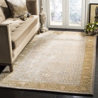 Safavieh Handmade Silk Road Beige/ Light Gold New Zealand Wool Rug (2' x 3')