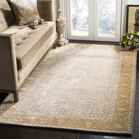 Safavieh Handmade Silk Road Beige/ Light Gold New Zealand Wool Rug (2' x 3')