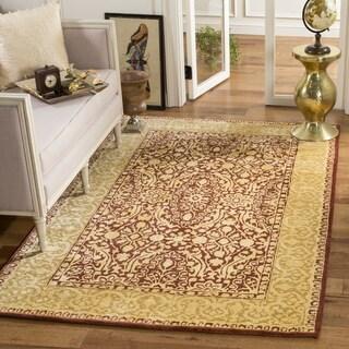 Safavieh Handmade Silk Road Maroon/ Ivory New Zealand Wool Rug (9'6 x 13'6)