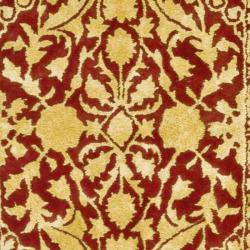 Safavieh Handmade Silk Road Maroon/ Ivory New Zealand Wool Rug (4' x 6') - Thumbnail 2