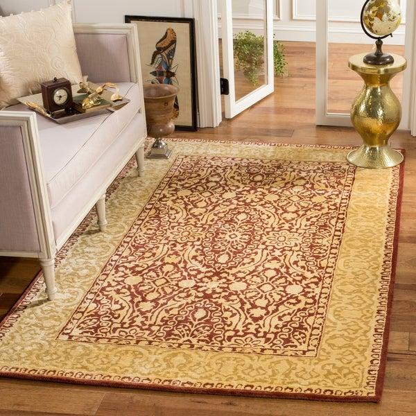Safavieh Handmade Silk Road Maroon/ Ivory New Zealand Wool Rug - 6' x 9'