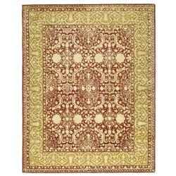 Safavieh Handmade Silk Road Maroon/ Ivory New Zealand Wool Area Rug (7'6 x 9'6)