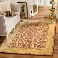 "Safavieh Handmade Silk Road Maroon/ Ivory New Zealand Wool Area Rug - 7'6"" x 9'6"""