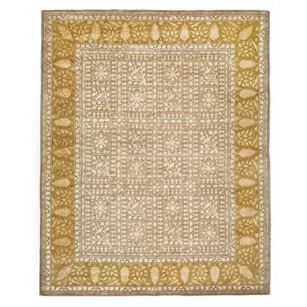 Safavieh Handmade Silk Road Beige/ Light Gold New Zealand Wool Rug (6' x 9')