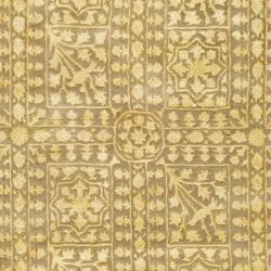 Safavieh Handmade Silk Road Beige/ Light Gold New Zealand Wool Rug (7'6 x 9'6 Oval) - Thumbnail 2