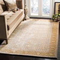 Safavieh Handmade Silk Road Beige/ Light Gold New Zealand Wool Rug - 7'6 x 9'6