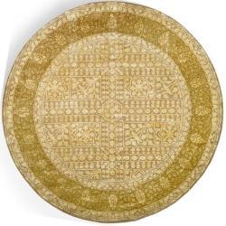 Safavieh Handmade Majestic Beige/ Light Gold N. Z. Wool Rug (8' Round)