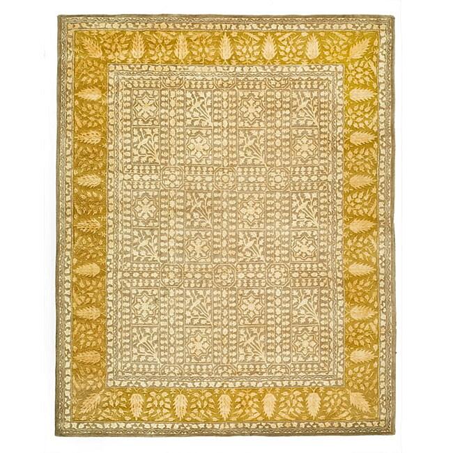 Safavieh Handmade Silk Road Beige/ Light Gold New Zealand Wool Rug (8'3 x 11')