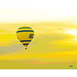 Stewart Parr 'Luxor, Egypt - Nile River Air Balloon' Unframed Photo Print