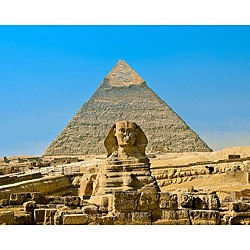 Stewart Parr 'Cairo, Egypt - Sphinx and Khufu Pyramid' Unframed Photo Print