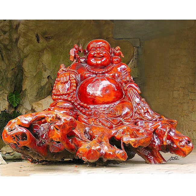 Stewart Parr 'Guilin China - Red Buddha Rock Carving' Photo Print