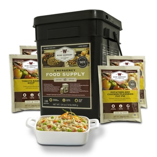 Wise Company Entree Only 60-serving Long Term Emergency Food Bucket - Black - 11x10x15